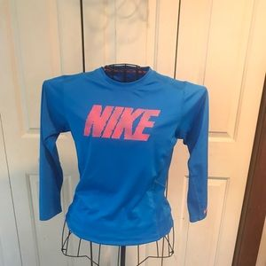 Dry fit Nike shirt awesome blue and melon color